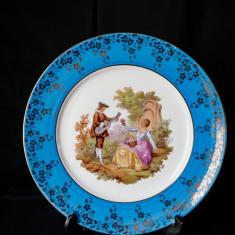 Farfurie Limoges Fragonard, Franta, cu scene galante