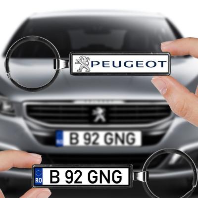 Breloc numar auto Peugeot foto