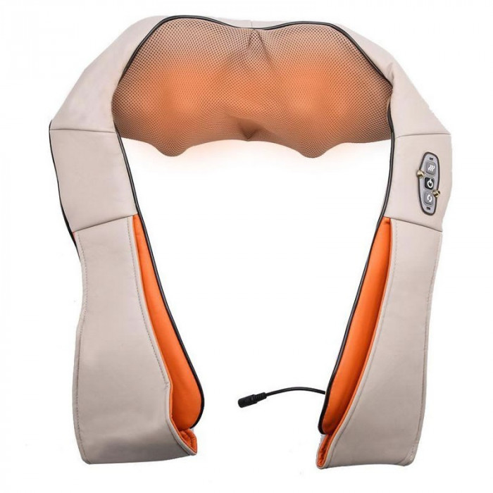 Centura pentru masaj umeri si gat Shiatsu Neck Massager, 3 viteze, infrarosu
