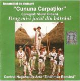 """CD Ansamblul de dansuri """"Cununa Carpaților""""* – Drag Mi-i Jocul Din Bătrâni"""
