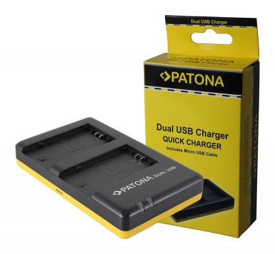 PATONA | Incarcator Dual USB pt Sony NP-FZ100 NPFZ100 NP FZ100 foto