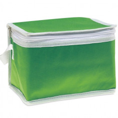 Geanta termoizolanta pentru 6 doze, ALX-PRL04, material netesut, verde, Alexer
