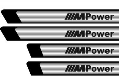 Set protectii praguri CROM - M Power foto