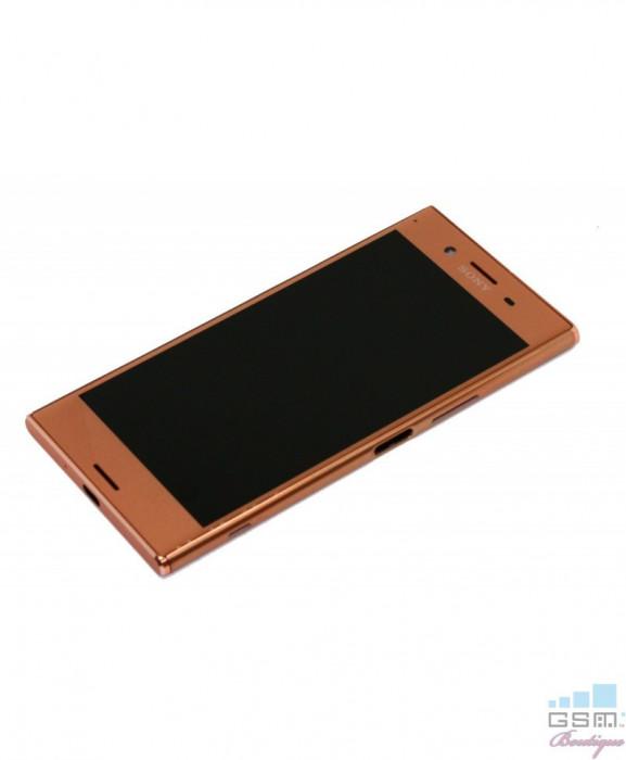 Ecran LCD Display Sony Xperia XZ Premium cu Rama, G8141 Roz