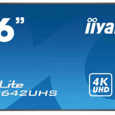 Monitor Iiyama Pro Lite LH8642UHS-B1 86 inch 8ms Ultra HD 4K Black
