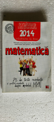MATEMATICA 75 DE TESTE REZOLVATE SI PARTIAL REZOLVATE DUPA MODELUL MEN foto