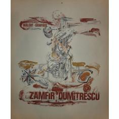 "ZAMFIR DUMITRESCU "" AFIS EXPOZITIONAL - GERMANIA "" litografie"