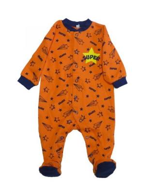 Salopeta / Pijama bebe cu stelute Z68 foto