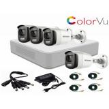 Cumpara ieftin Sistem supraveghere video Hikvision 4 camere 2MP ColorVU FullTime FULL HD , accesorii incluse
