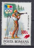 ROMANIA 2001 LP 1566 ALBERTVILLE 92 SUPRATIPAR SANIUTA MNH