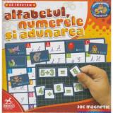 Joc magnetic. Sa invatam alfabetul, numerele si adunarea 61720 AA 02