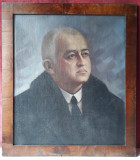 Portret de barbat, pictura veche, ulei pe panza