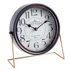 Ceas de masa metal negru Clement 25x22h
