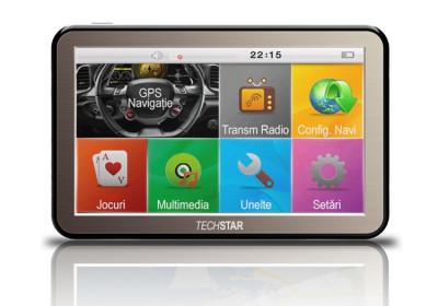 "GPS Auto Techstar NView 5"" Resigilat HD foto"