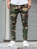 Cumpara ieftin Pantaloni training cargo bărbați camuflaj-kaki Bolf 1003