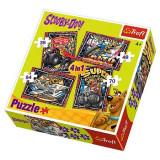 Puzzle 4 in 1 Aventurile lui Scooby Doo 34257 Trefl