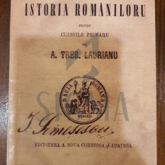 A. TREBONIU LAURIANU - ELEMENTE DE ISTORIA ROMANILOR - pentru clasele primare, 1872