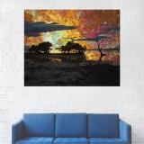 Tablou Canvas, Peisaj Apus in Padure - 80 x 100 cm