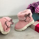 Cizme roz imblanite f moi cu iepuras pt fete copii bebe 18 21