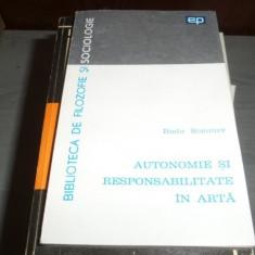 Autonomie si responsabilitate in arta – Radu Sommer