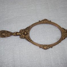 ramă oglindă veche din bronz