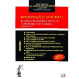 Insolventa si lichidare - Legislatie, modele de acte, adnotari, teste-grila | Adriana Violeta Nistor