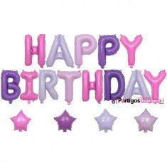 Set 17 baloane folie 3d Happy Birthday 16 inch