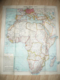 Harta Africii 73x87cm ,- Germania 1941 Verlag Westermann