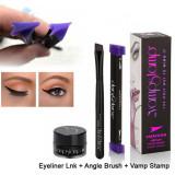 Set Eyeliner Gel, Stampila si Pensula VampStamp Large