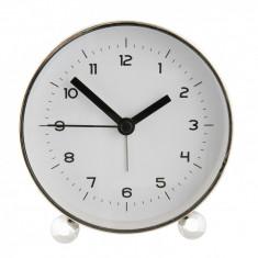 Ceas desteptator metal argintiu clasic 8*5*12 cm