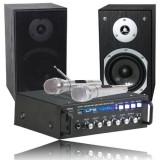 SET KARAOKE AMPLIFICATOR USB + 2 BOXE 2X35W