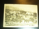 Ilustrata - Sinaia - Hotel Palace , Parcul si Gara, circulat 1946