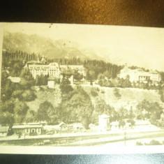Ilustrata - Sinaia - Hotel Palace , Parcul si Gara, circulat 1946, Circulata, Printata