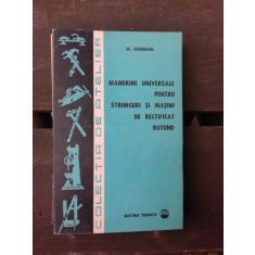 MANDRINE UNIVERSALE PENTRU STRUNGURI SI MASINI DE RECTIFICAT ROTUND - M. GHERMAN