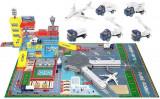 Statie de Aeroport cu pista + 4 masinute + 1 avion , 95 x 60 x 28,5 cm, materiale si finisaje rezistente