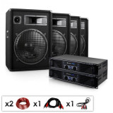 "Electronic-Star Set complet DJ PA ""Miami Quasar Pro"" 2 x amplificator si 4 x boxe"