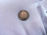 Moneda 1 banu 1867 Watt & Co.  RARA Romania detalii UNC luciu de batere partial