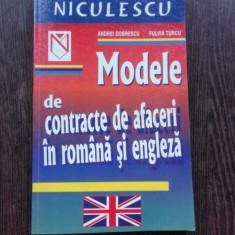 MODELE DE CONTRACTE DE AFACERI IN ROMANA SI ENGLEZA - ANDREI DOBRESCU
