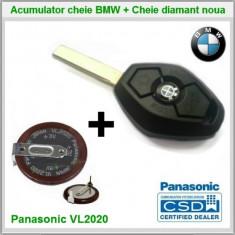 Baterie acumulator + Emblema BMW si Cheie NOUA BMW E36/46 E38/39 X5 E53