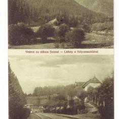 BAILE TUSNAD-STANCA SOIMUL SI GARA-CARTE POSTALA ANII 20, Necirculata, Printata