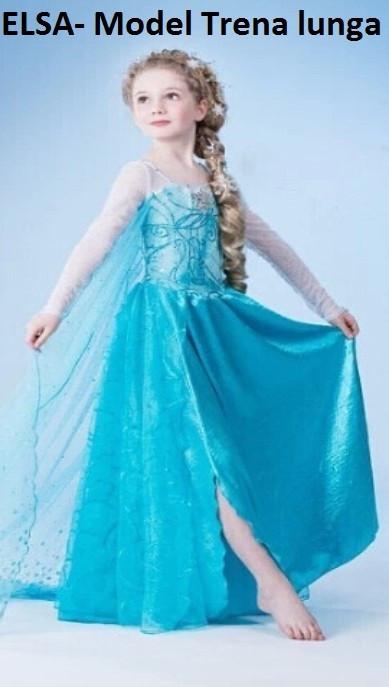 Rochita Elsa, Rochie Frozen, de petrecere, 3, 4, 5, 6, 7 ani