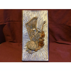 Design / Arta - Placa din ceramica instrumente muzicale marcaj Nykyrka Keramik !