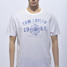 Tricou barbat-Tom Tailor, L, Alb