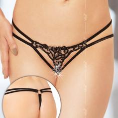 Bikini - G-String 2455 - negru S/L