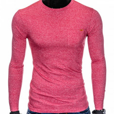 Bluza pentru barbati, din bumbac, rosu, simpla, slim fit - L103