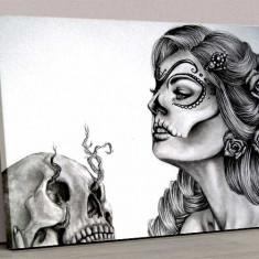 Tablou Canvas Girl Tattoo Black