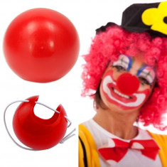 Nas Clown, dimensiuni 4x4 cm, prindere elastic, rosu