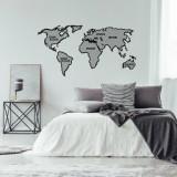 Decoratiune pentru perete, Ocean, metal 100 procente, 120 x 65 cm, 874OCN1068, Negru