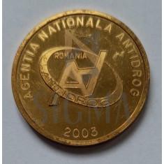 AGENTIA NATIONALA ANTIDROG - 2003 - MEDALIE 5 ANI DE EFORTURI SI SUCCESE - AGENTIA NATIONALA ANTIDROG (2003)