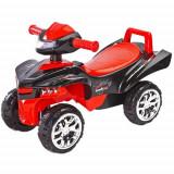 Vehicul Ride-On Mini Raptor 2 in 1 cu Sunete si Lumini Rosie, Toyz